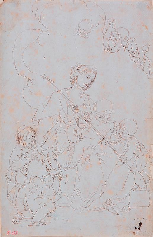 Paul Troger – Madona s Ježíškem a sv. Janem