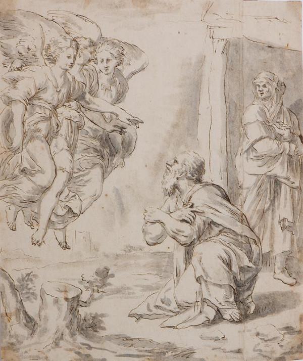 Giovanni Francesco Penni - podle – Abraham a andělé