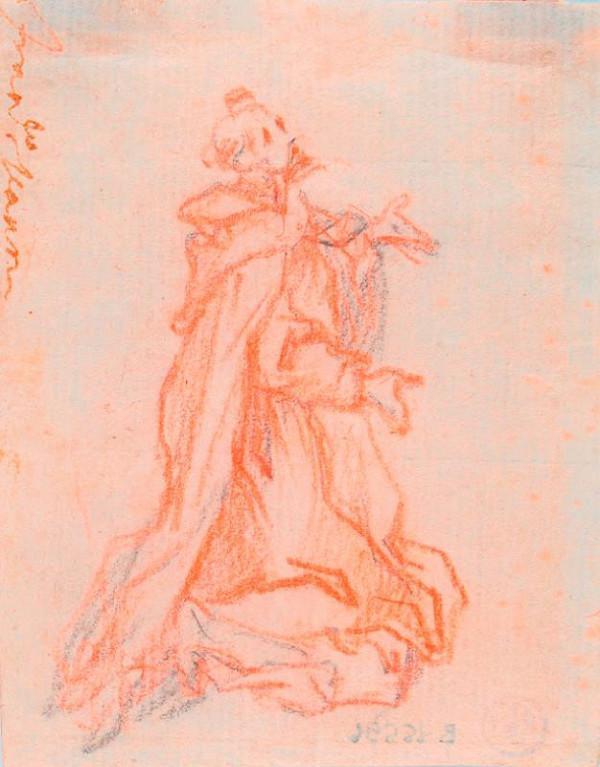 neznámý malíř italský – Klečící mnich