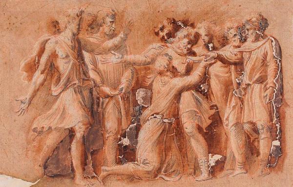 Polidoro da Caravaggio - podle – Historický výjev - Augur Aelius