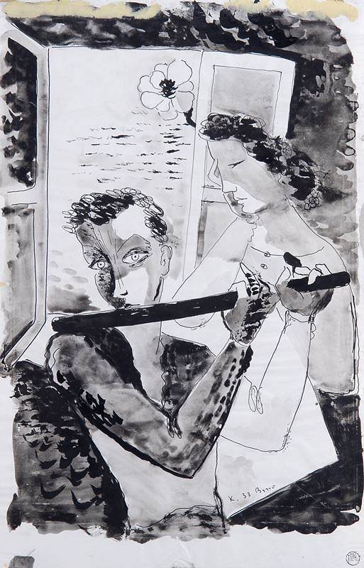 František Kaláb - Hoch a dívka u okna