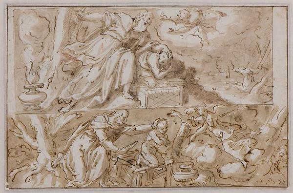 Giovanni Mauro della Rovere zv. Fiammenghino (?) - Obětování Izáka