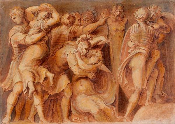 Polidoro da Caravaggio - podle – Únos Sabinek