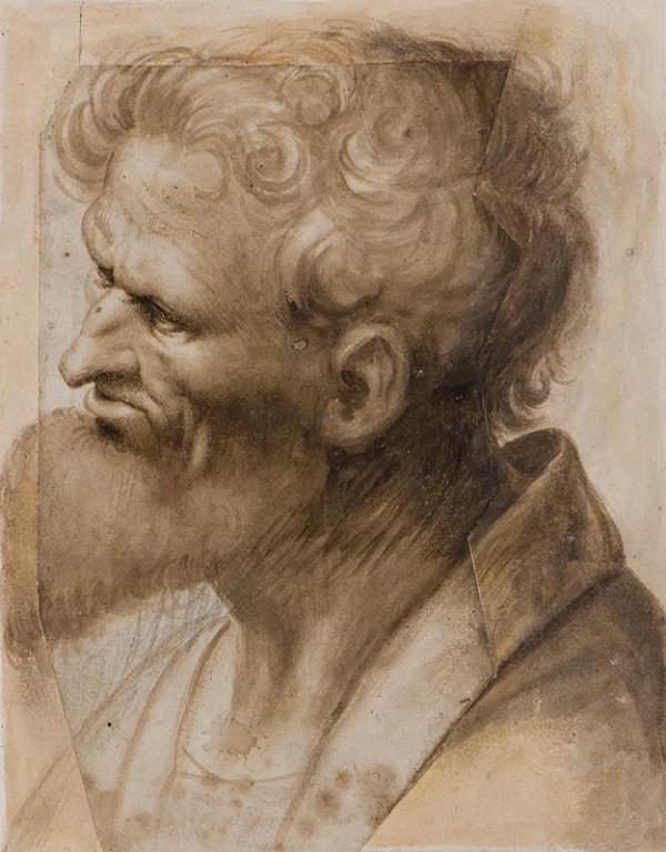 neznámý malíř italský - Hlava starého muže
