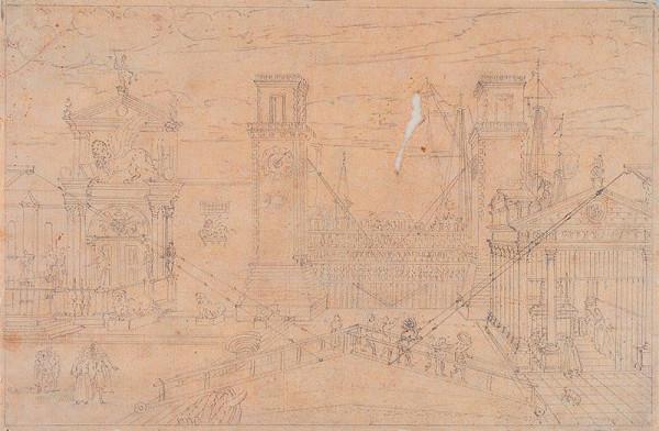 Giovanni Antonio Canal zv.Canaletto - následovník – Veduta dell Arsenale