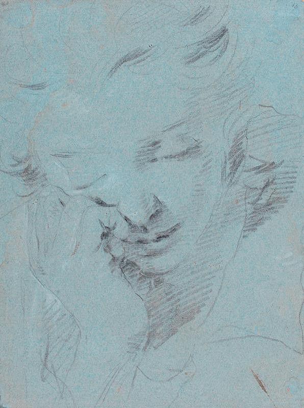 Giovanni Battista Tiepolo - podle - Hlava mladého muže