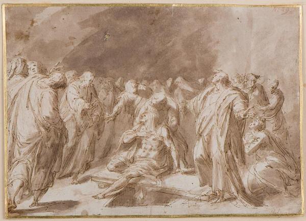 neznámý malíř italský – Vzkříšení Lazara