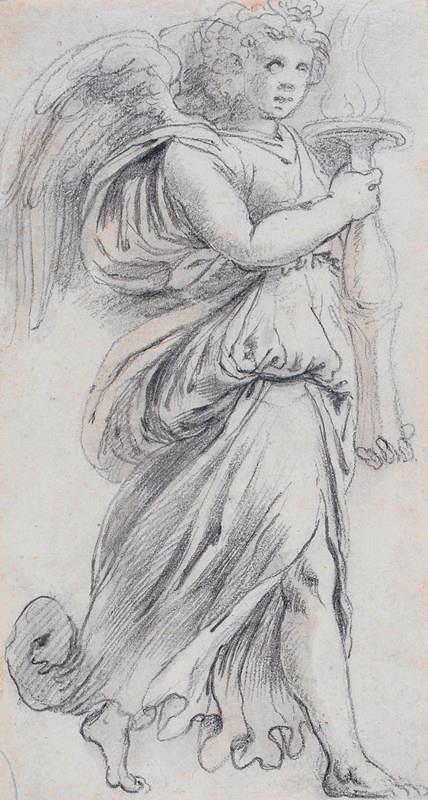 neznámý malíř italský - Anděl s pochodní