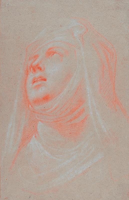 neznámý malíř římský - Hlava řádové sestry (Sv. Terezie z Avily)