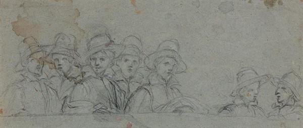 neznámý malíř italský - Skupina sedmi mužů