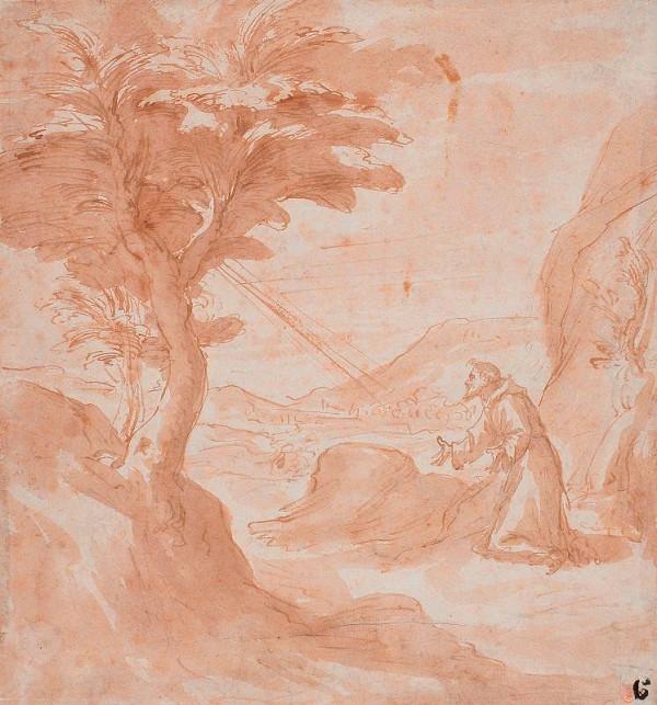 neznámý malíř italský – Stigmatizace sv. Františka