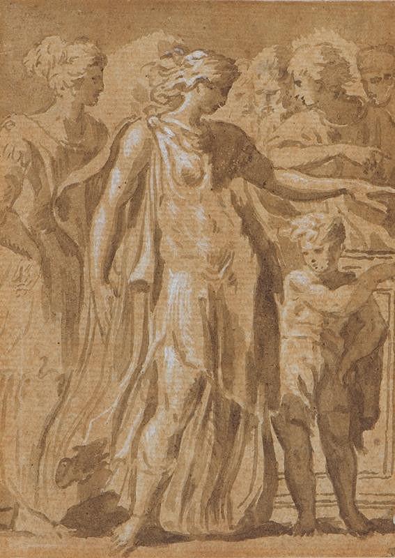 Francesco Mazzola zv. Parmigianino - kopista - Dido a Ascanius