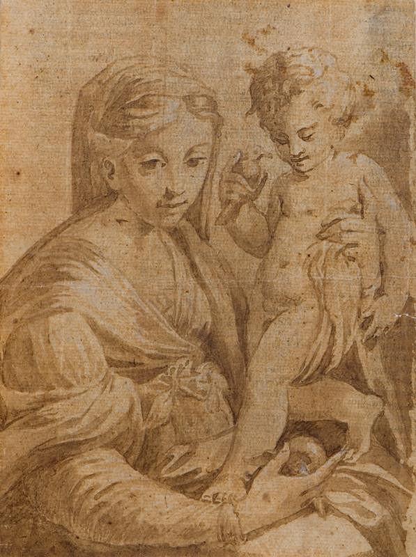 Francesco Mazzola zv. Parmigianino - podle – Madona s dítětem
