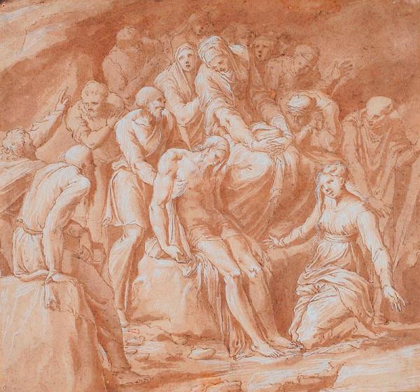 Polidoro da Caravaggio - okruh – Kristus ukládán do hrobu
