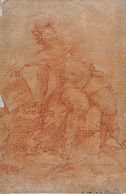 Luca Giordano – Sedící mužská figura