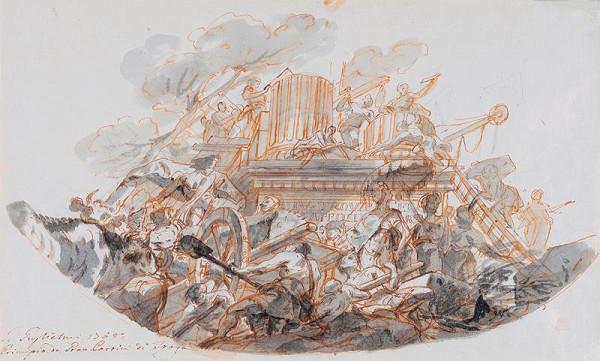 Gregorio Guglielmi - Stavba trójského hradu