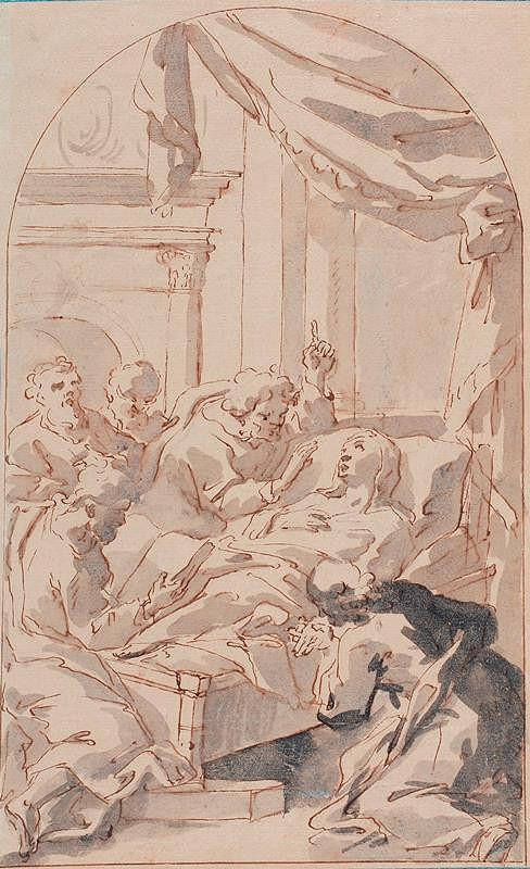 neznámý malíř italský - Smrt Panny Marie
