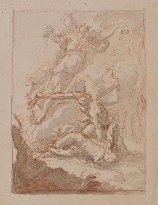 neznámý malíř italský - Obětování Izáka?