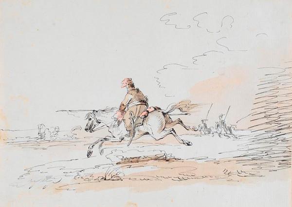 Francesco Giuseppe Casanova - Čerkeský jezdec