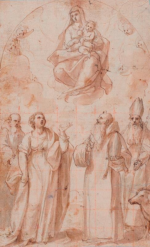 Giovanni Baglione - okruh – Madona se svatými