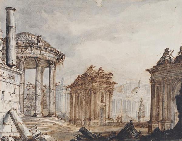 Giovanni Battista Piranesi - následovník – Ruiny antického fora