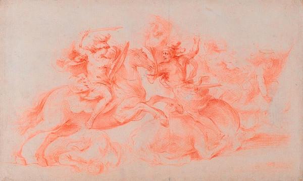 Francesco Allegrini - Jezdecká bitva