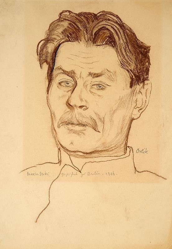 Emil Orlik - Portrét Maxima Gorkého