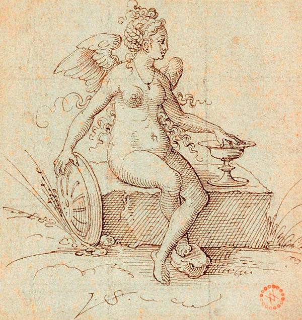 Virgil (Virgilius) Solis (S.V.) – Salus; Nahá žena s křídly
