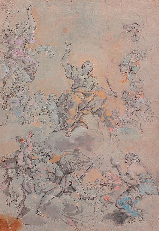 Pietro Berrettini da Cortona - podle - Triumf boží prozřetelnosti