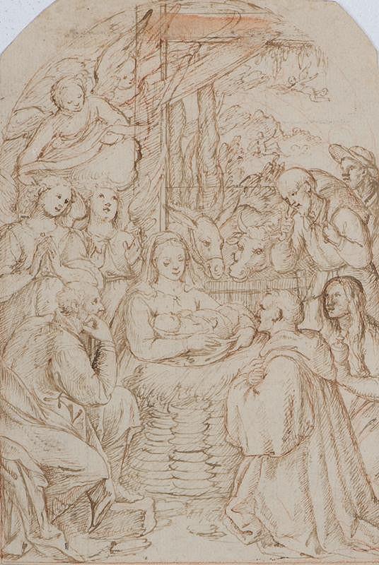 neznámý malíř lombardský (?) - Klanění pastýřů