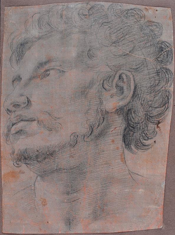 neznámý malíř italský – Hlava muže
