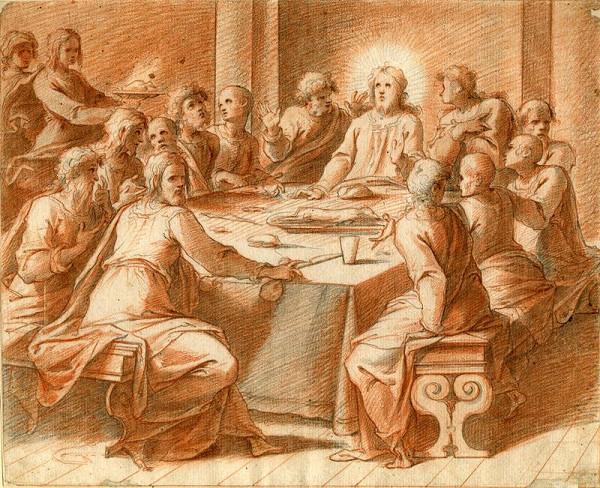 Cristofano Roncalli  zv. il Pomerancio – Poslední večeře