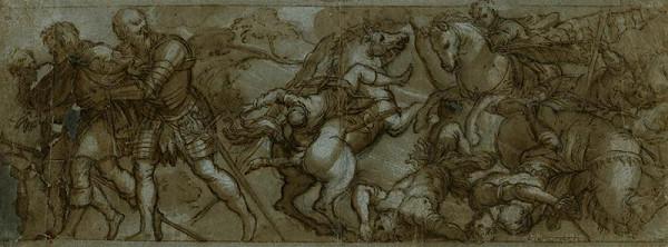 Jacopo Tintoretto - podle - Zajetí sv. Rocha u Montpellier