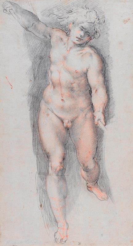 neznámý malíř italský – Studie mužské postavy