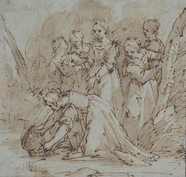 Giovanni Battista Paggi - Nalezení Mojžíše
