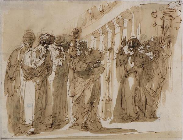 Giuseppe Bernardino Bison – Výjev před chrámem