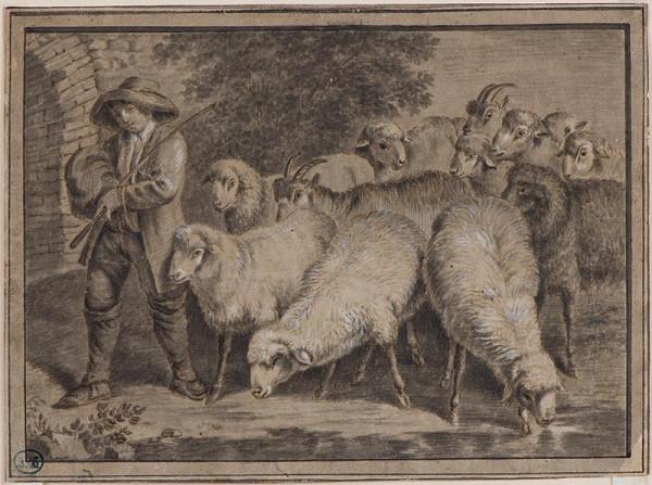 Francesco Londonio - podle - Pastýř se stádem ovcí