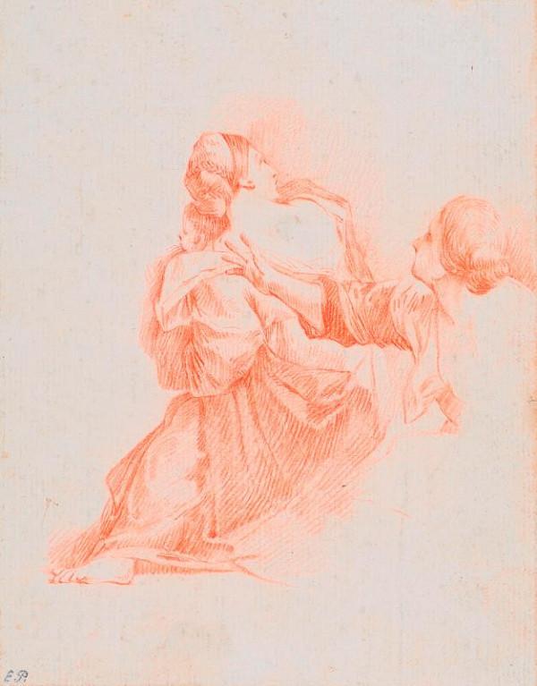 neznámý malíř italský - Skica dvou žen