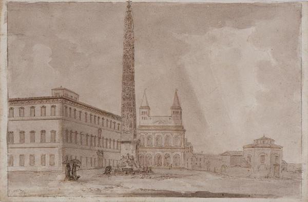 neznámý malíř italský – Náměstí S. Giovanni in Laterano
