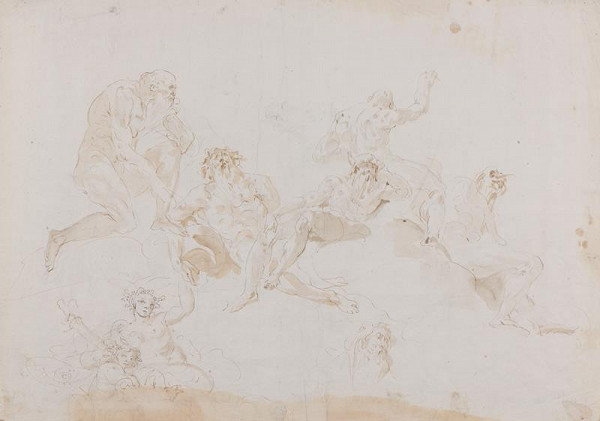 Giovanni Battista Tiepolo - dílna – Figurální studie pro nástropní fresku