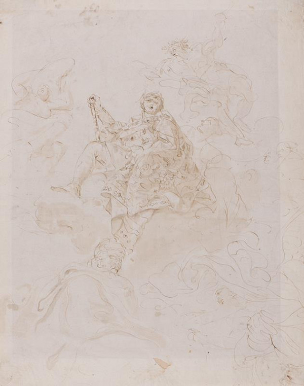 Giovanni Battista Tiepolo - dílna – Oslava/ apoteóza šlechtice