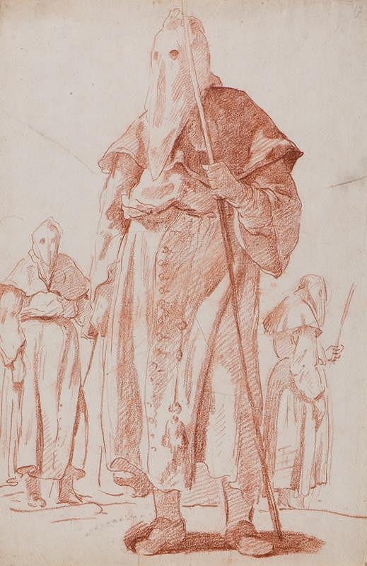 Jean-Honoré Fragonard - Členové bratrstva miosrdenství