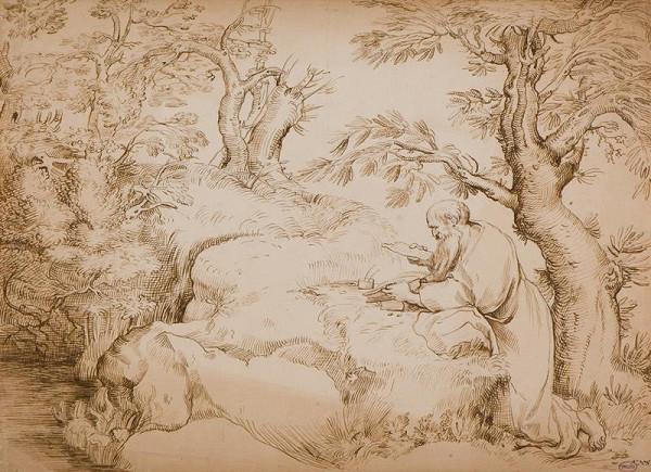 neznámý malíř italský – Sv. Jeroným v pustině