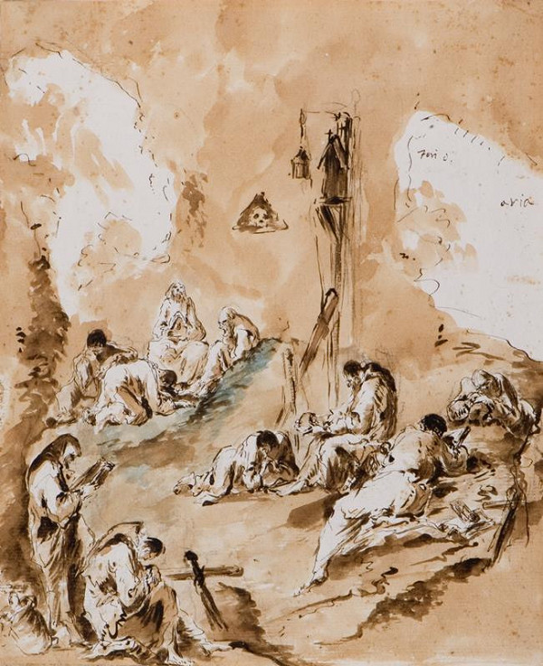 Alessandro Magnasco - podle - Mniši na modlitbách