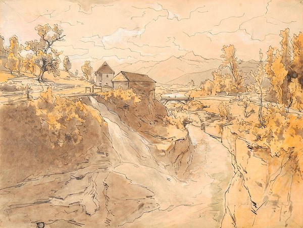 Eduard Peithner von Liechtenfels - Mlýn u Ďáblova mostu