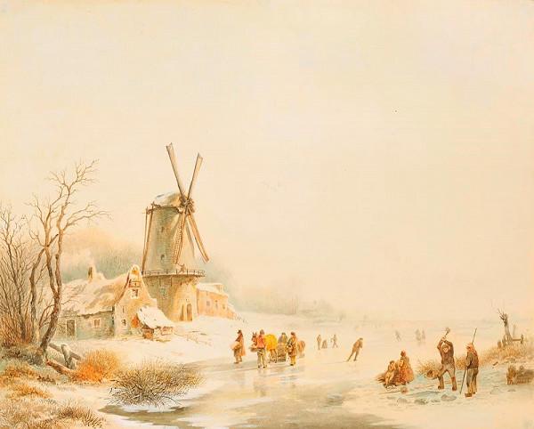 Arnoldus Van de Zant – Zimní  krajina