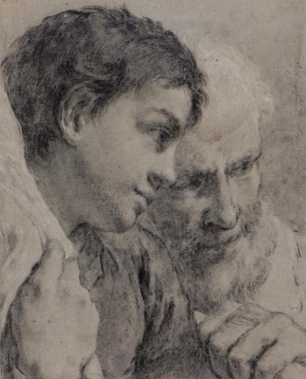 Giovanni Battista Piazzetta - podle – Dva muži
