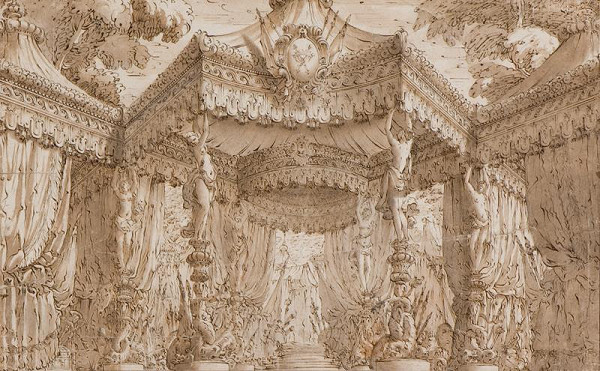 Antonio Galli Bibiena - dílna - Návrh scénické architektury