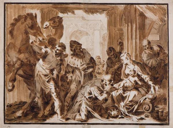 Paolo Farinato (Farinati) - podle – Klanění tří králů