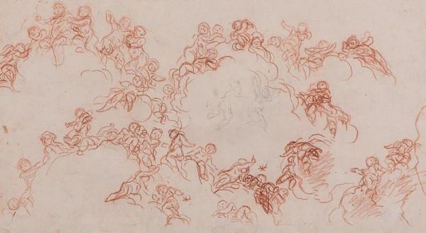 Baldassare Franceschini zv. il Volterrano – Putti na oblacích